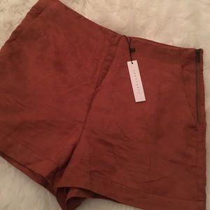 NWT Velvet High-Waisted Shorts